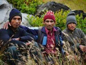 We had 12 porters carry our gear for 3 days to base camp.